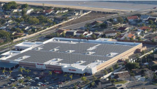 This rooftop array atop a Walmart store in Santa Ana, California, was one of the company's first. Walmart now boasts more than 100 MW installed capacity across the U.S.