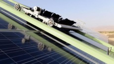Solar cleaning robots