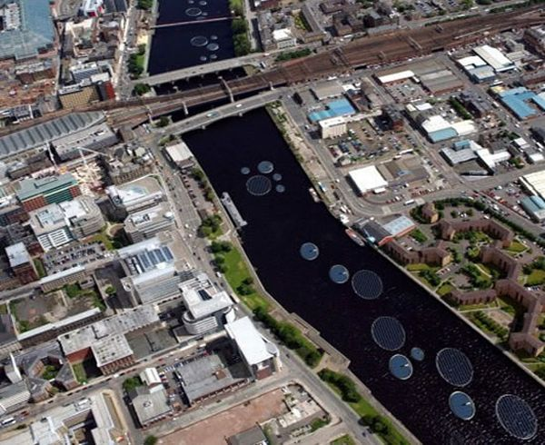 Floating Solar Lily pads